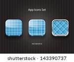 vector 3d square app icons with ...