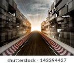 racetrack in evening light... | Shutterstock . vector #143394427