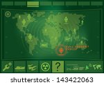 war game interface technology | Shutterstock .eps vector #143422063