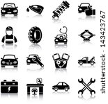 auto mechanic related icons ... | Shutterstock .eps vector #143423767