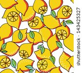 lemon seamless background | Shutterstock .eps vector #143425327