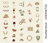 summer vector icon set | Shutterstock .eps vector #143446723