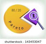 pareto principle   the key... | Shutterstock .eps vector #143453047