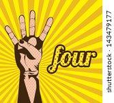four number over grunge... | Shutterstock .eps vector #143479177
