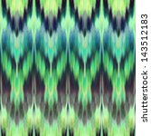 Abstract Ethnic Ikat Ornamenta...