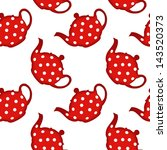 red tea pot pattern  abstract... | Shutterstock .eps vector #143520373