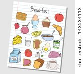 illustration of breakfast... | Shutterstock .eps vector #143534113
