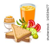 healthy breakfast | Shutterstock .eps vector #143534677