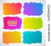 watercolor splatters. grunge...   Shutterstock .eps vector #143539423
