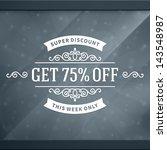 window advertising decals... | Shutterstock .eps vector #143548987