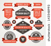 vector vintage sale labels and... | Shutterstock .eps vector #143548993
