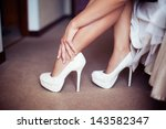 the bride on her wedding day....   Shutterstock . vector #143582347