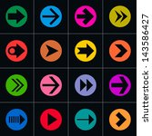 16 arrow pictogram in color... | Shutterstock .eps vector #143586427