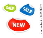vector sale and discount icons... | Shutterstock .eps vector #143588773