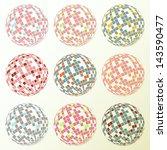 Disco Balls Set Retro Vector...