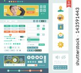 vector ui elements for web and...