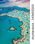 great barrier reef heart of... | Shutterstock . vector #143603203