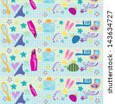 fashion  pattern  background ... | Shutterstock .eps vector #143634727