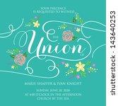 wedding invitation card | Shutterstock .eps vector #143640253