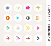 arrow icon sign set. simple... | Shutterstock .eps vector #143642947