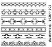 vector vintage borders set | Shutterstock .eps vector #143644903