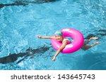 happy little girl in the...   Shutterstock . vector #143645743