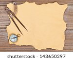 blank old paper with compass... | Shutterstock . vector #143650297