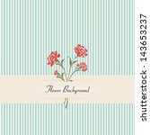 Vintage carnations background