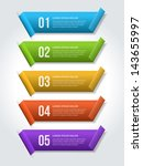 vector step options banners and ... | Shutterstock .eps vector #143655997