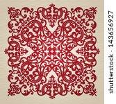 vector baroque ornament in...   Shutterstock .eps vector #143656927