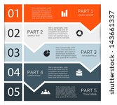 vector arrows for infographic.... | Shutterstock .eps vector #143661337