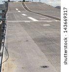 Small photo of Runway Aircraft Carrier on battleship