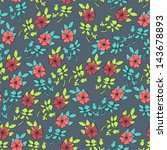 seamless flowers pattern on... | Shutterstock .eps vector #143678893