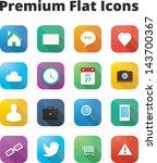 premium flat icons set bitmap...