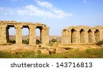 landscape with ruins of ancient ... | Shutterstock . vector #143716813