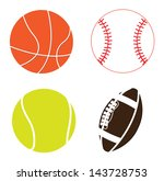 sport balls over white... | Shutterstock .eps vector #143728753