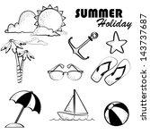 summer holiday over white... | Shutterstock .eps vector #143737687