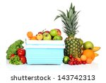 fresh fruits and vegetables in... | Shutterstock . vector #143742313