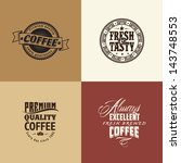 retro elements for coffee... | Shutterstock .eps vector #143748553