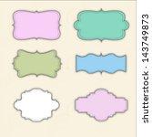 vintage stickers | Shutterstock .eps vector #143749873