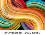rainbow colored filigree paper... | Shutterstock . vector #143758453