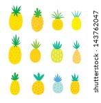 pineapple poster | Shutterstock .eps vector #143762047