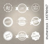 vintage style badges in... | Shutterstock .eps vector #143780467