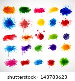 Bright grunge splashes. Vector illustration - stock vector
