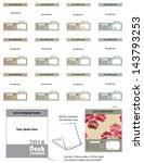 modern vector desk calendar... | Shutterstock .eps vector #143793253