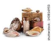 Spa With Seashells Isolated On...