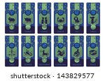 banners set with the european... | Shutterstock .eps vector #143829577
