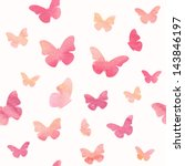 Seamless Watercolor Butterfly...