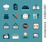 restaurant icons  vector | Shutterstock .eps vector #143851387