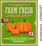 Vintage Farm Fresh Pumpkin...